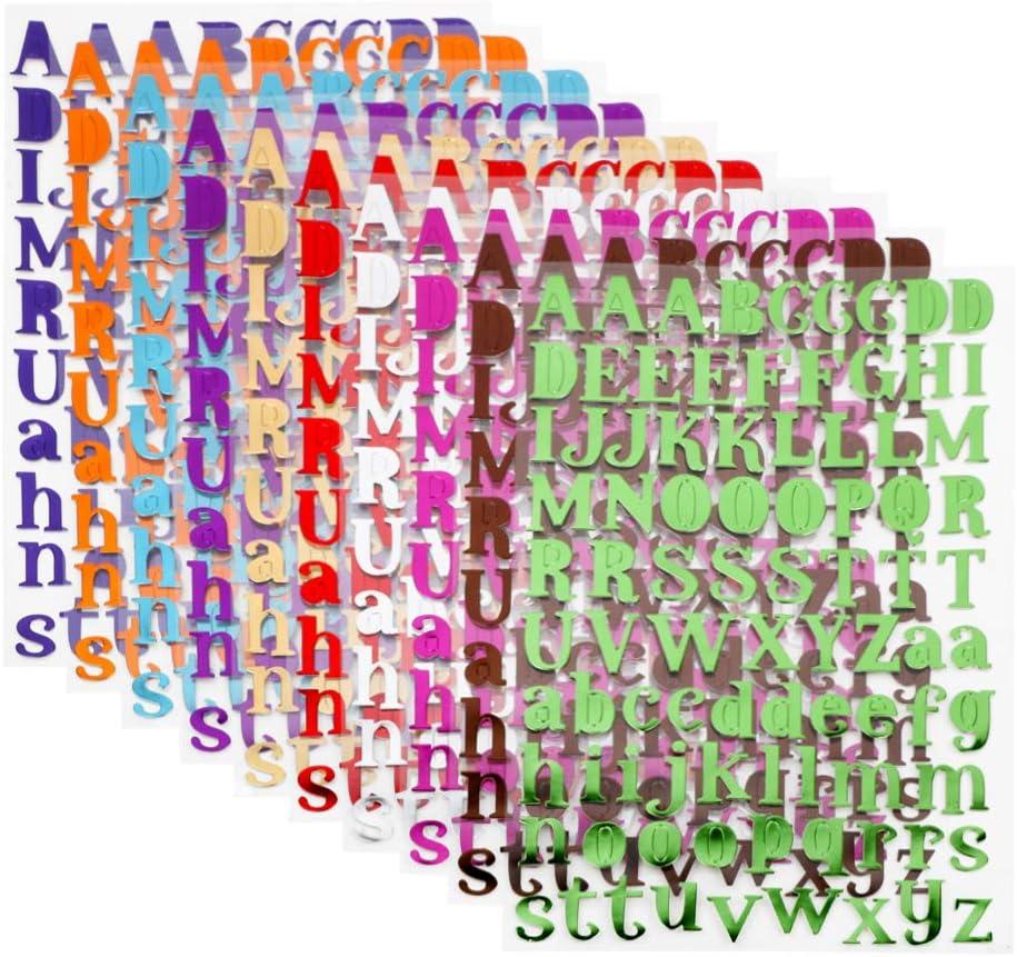 VINFUTUR 10 Colors Autocollants Nombre Auto-Adh/ésif 0-9 Stickers Chiffres Brillants pour Bricolage Scrapbooking D/écoration de F/ête