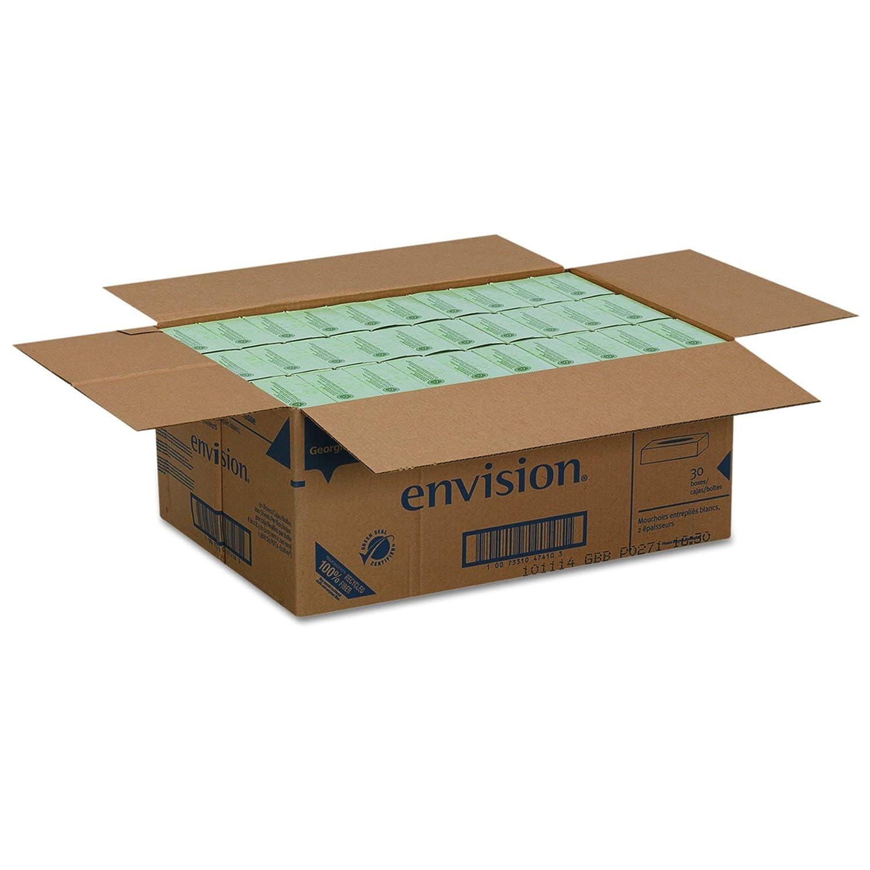 30 Boxes Per Case Flat Box Envision 2-Ply Facial Tissue by GP PRO 100 Sheets Per Box Georgia-Pacific Renewed 47410