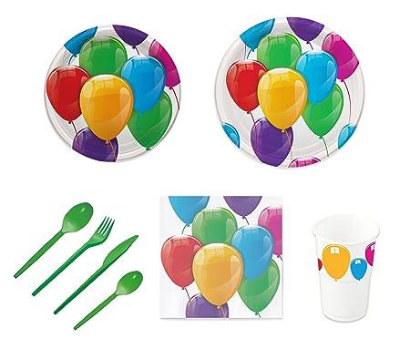 Pack para fiesta infantil o cumpleaños con diseño de globos ...