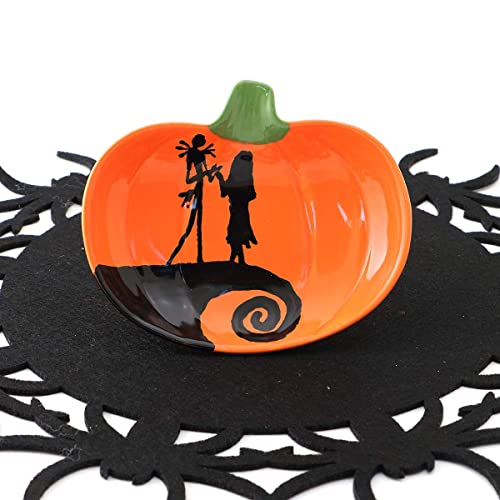 Amazoncom Jack And Sally Nightmare Before Christmas Pumpkin Dish