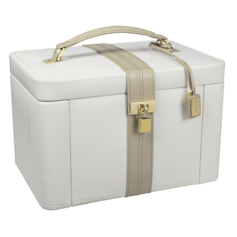 Dulwich Designs Luxus Luxus Luxus Leder Schmuckkästchen 71022, cremefarben, zweifarbig 448389