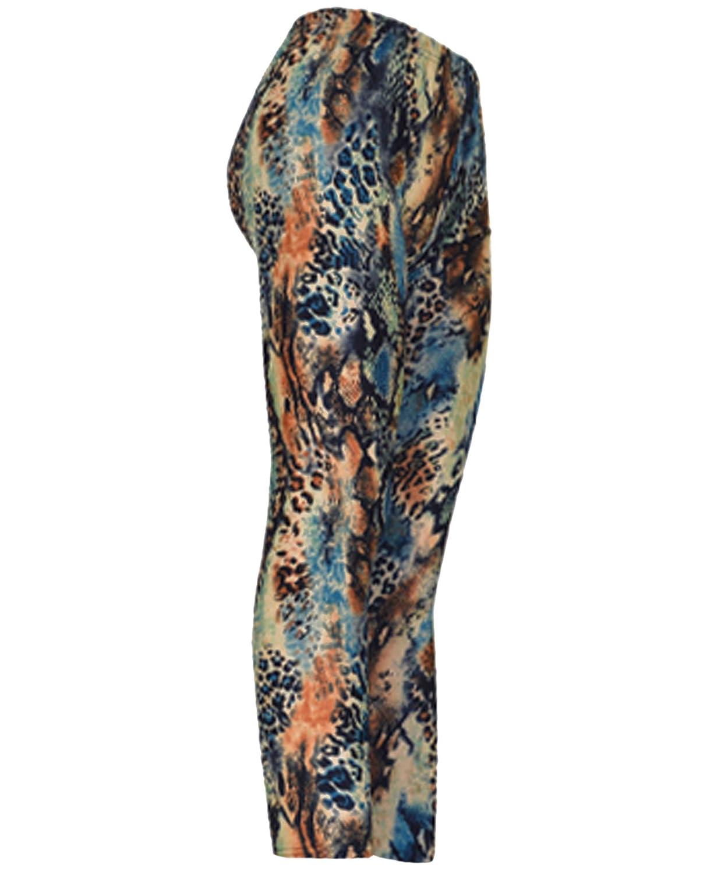 """Colorful Cheetah"" Ladies Footless Printed Leggings"