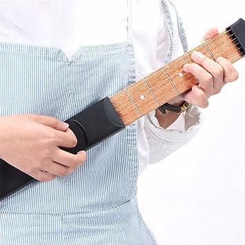Mástil de guitarra de la marca HLHome, de bolsillo, para practicar ...