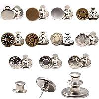 Lre Co.11 stuks Jean Button Pins, 17mm Jean Button Vervangende Pins voor Jeans Geen naai metalen Jeans Buttons…