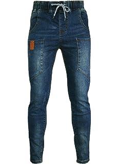 8199a47f PHOENISING Women's Retro Boyfriend Style Jeans Elastic Band & Drawstring  Trousers,Size 6-18