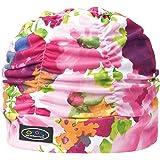 FOOTMARK(フットマーク) 水泳帽 スイミングキャップ ゆったりアクアキャップギャザー柄 230422