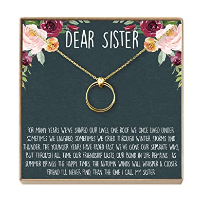 Dear Ava Sisters Gift Necklace Big Sister Birthday For Little