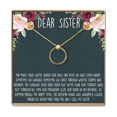 95d72e43bd17a Amazon.com: Dear Ava Sisters Gift Necklace: Big Sister, Birthday ...