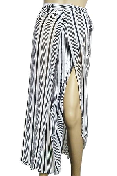 4d978318219566 Patiky Women Girl Beach Cover up Stripe Sarong Pareo Bikini Wraps Coverups  Dress Split Skirt with
