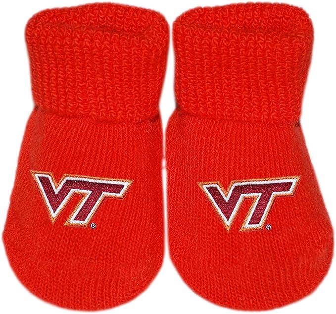Virginia Tech Hokies Infant Newborn Baby Booties Slippers NEW Shower Gift NCAA