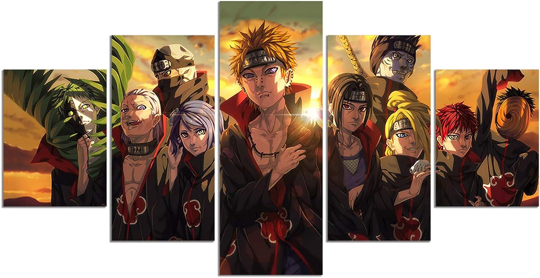 Anime Naruto Akatsuki Pain Poster HD Print on Canvas Painting Wall Art for Living Room Decor Boy Gift (Unframed, Naruto-Pain)