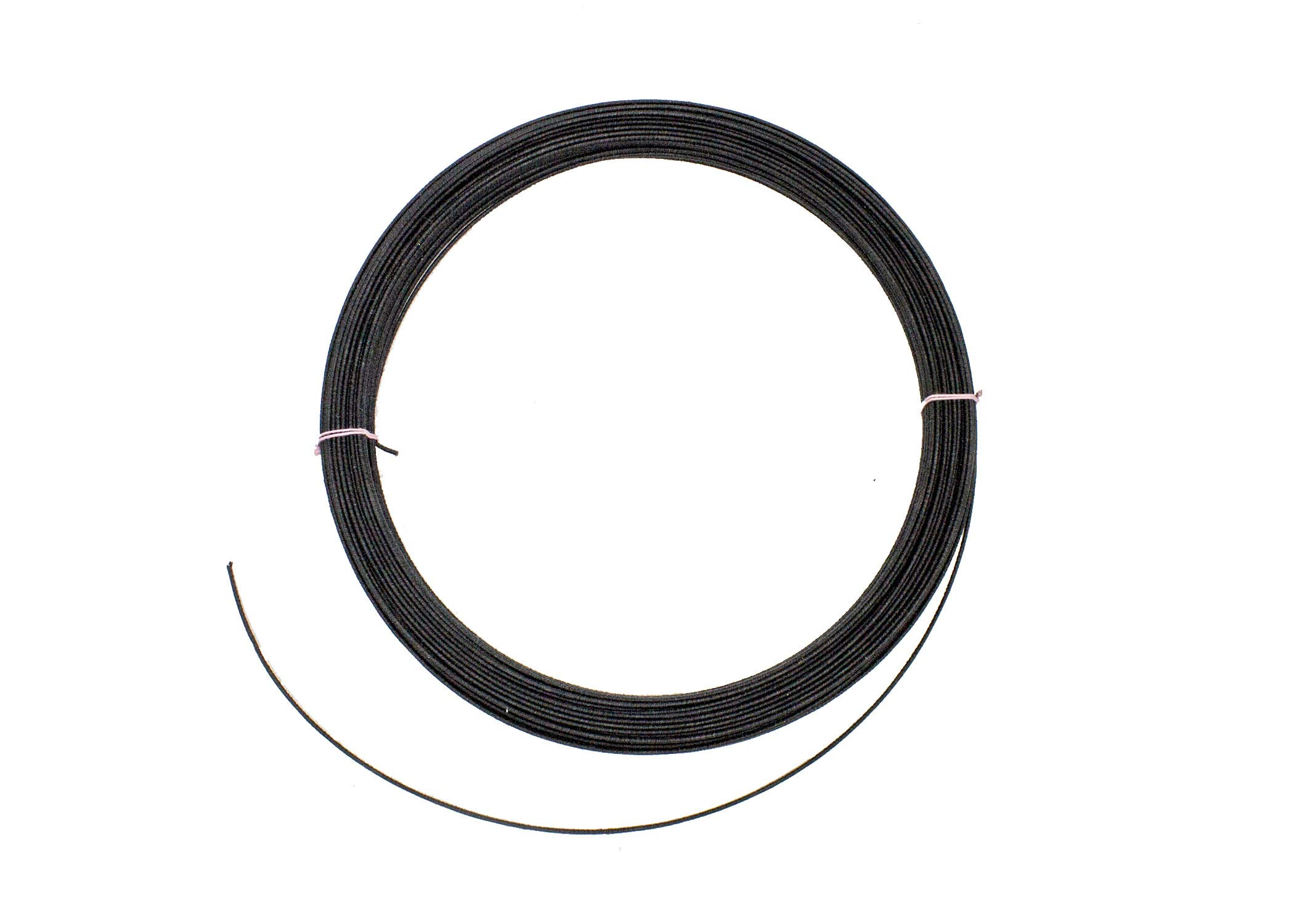 19g Cotton Covered Millinery Wire Standard Firm Black- 60 Yards by Humboldt Haberdashery (Image #1)