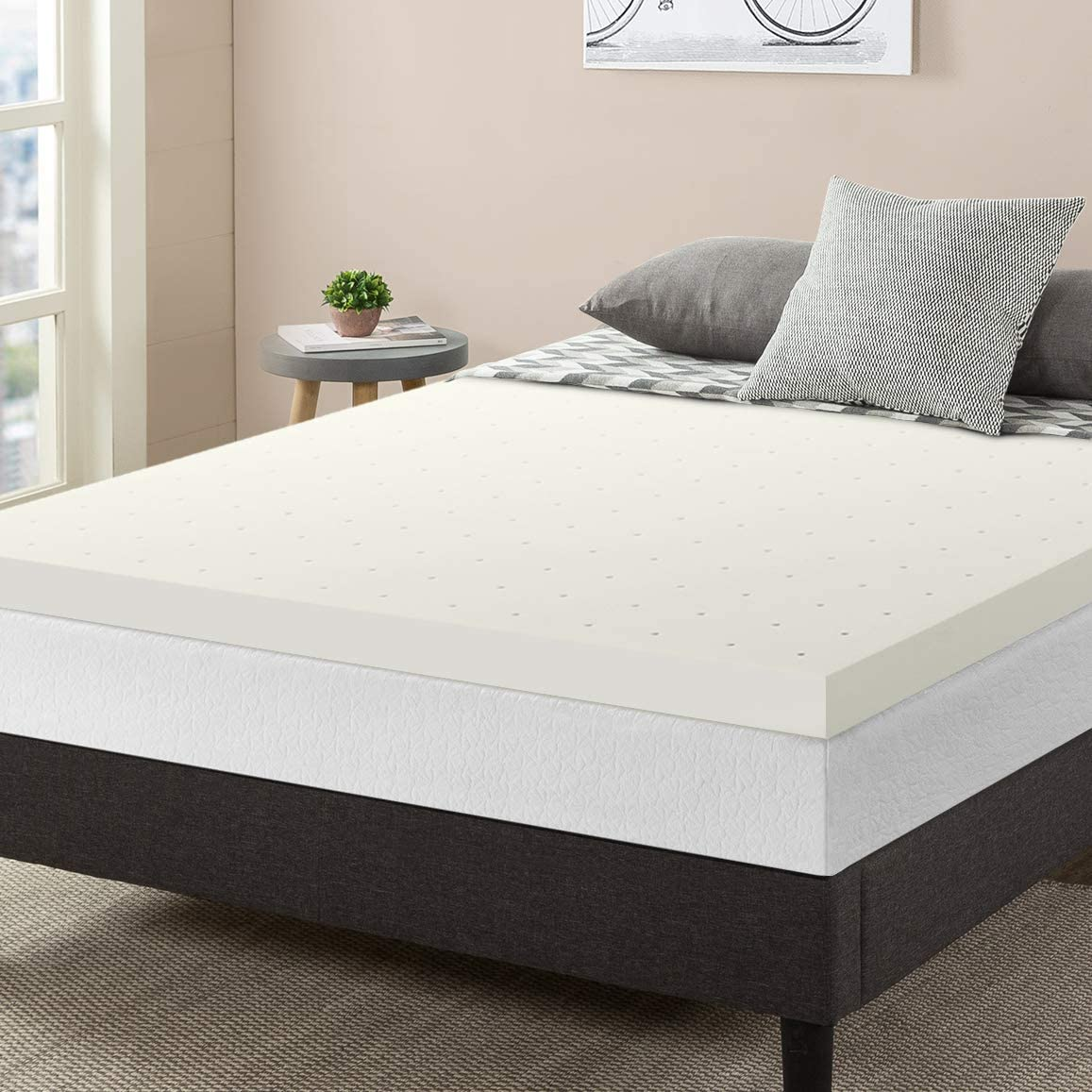 Best Price Mattress Queen Mattress Topper - 3 Inch Memory Foam Bed Topper with Cooling Mattress Pad, Queen Size
