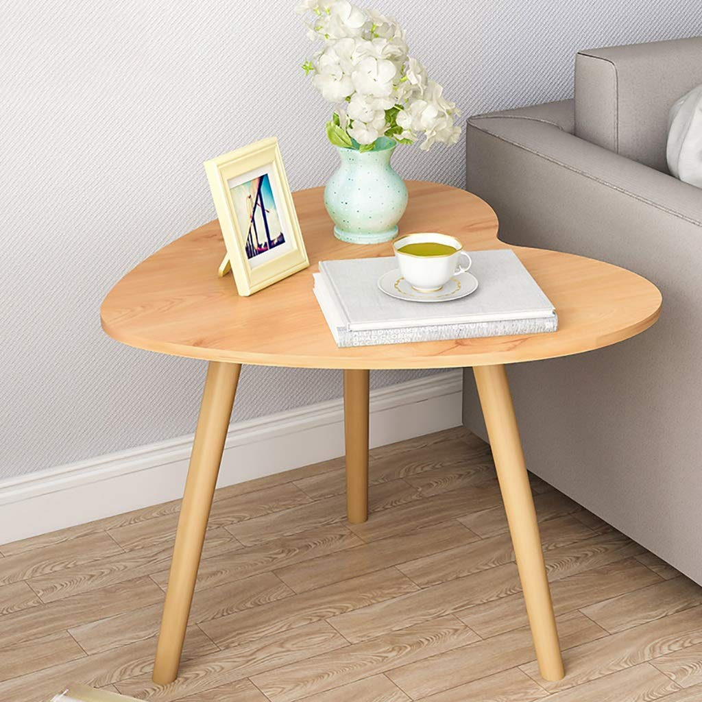 Garde Small Round Table, Simple Mini Bedroom Modern Household Small Coffee Table, Solid Wood Creative Leisure Negotiation Small Table (Color : A) by Garde
