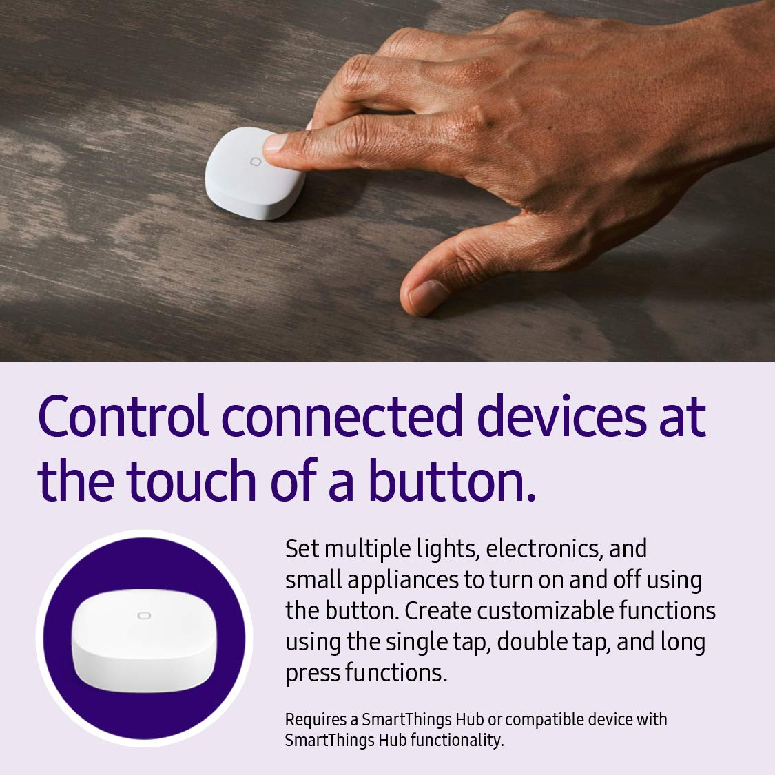 Samsung SmartThings Smart Button, White (GP-U999SJVLEDA)