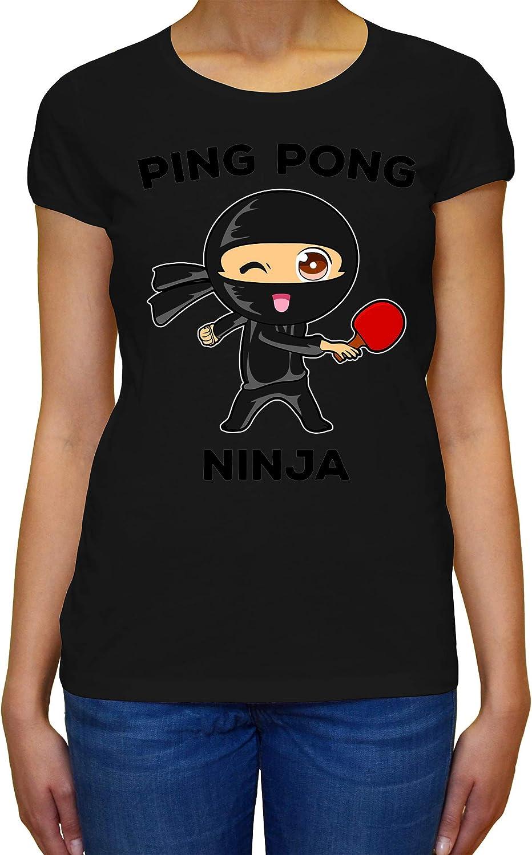 ShutUp Co. Ping Pong Ninja Camiseta para Mujer