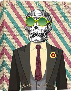 tableau peinture déco murale tête de mort 18