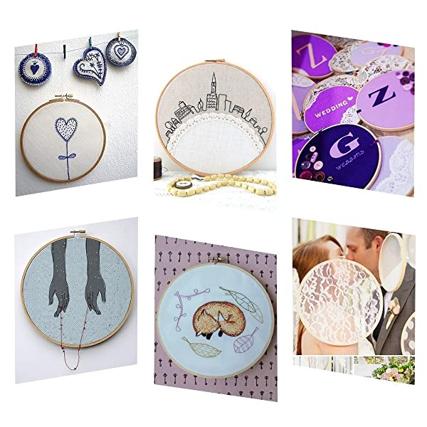 Use a hoop to embroidery with a sewing machine