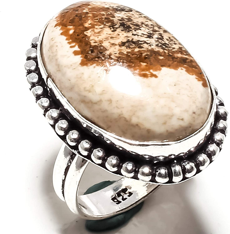 Jasper Rings Jasper Jewellery Jasper Stone Ring Jasper Handmade Ring Silver Plated Ring Gemstone Rings Size 8 US