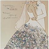 Hallmark - Biglietto di auguri di nozze, stile moderno con brillantini, quadrato grande