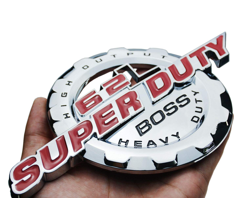 Chrome Red Black 6.2L V8 Super Duty Boss Side Fender//Trunk 3D Emblem Badge 2 PCS