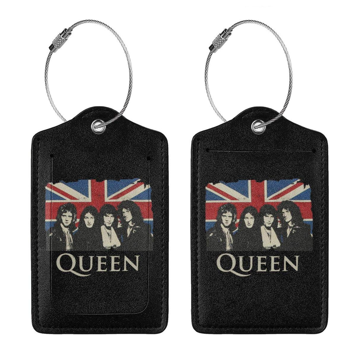 Queen Vintage Leather Luggage Tag Travel ID Label For Baggage Suitcase