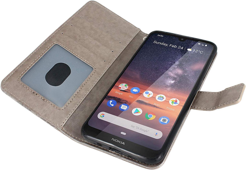 LOBFE11632#9 Nokia 3 Case Lomogo Leather Wallet Case with Kickstand Card Holder Shockproof Flip Case Cover for Nokia 3