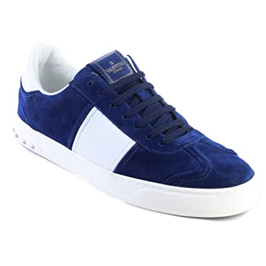 3e40839550162 Amazon.com  Valentino Men s Suede Rockstud Sneaker Shoes Royal Blue ...