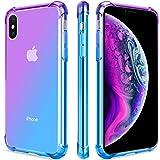 SALAWAT for iPhone Xs Case, Clear iPhone X Case Cute Gradient Slim Anti Scratch TPU Phone Case Cover Reinforced Corners…