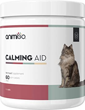 Ayuda Calmante para Gatos 60 Comprimidos Masticables Relajantes