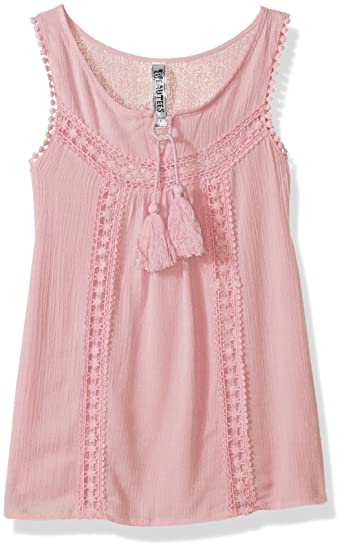 5ef16108e112f5 Amazon.com  Beautees Girls  Big Sleeveless Top with Tie Front