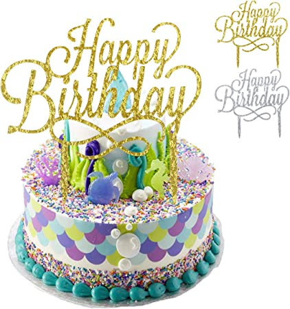 Terrific Natuce 2 Pack Happy Birthday Cakes Topper Cakes Decoration Personalised Birthday Cards Cominlily Jamesorg