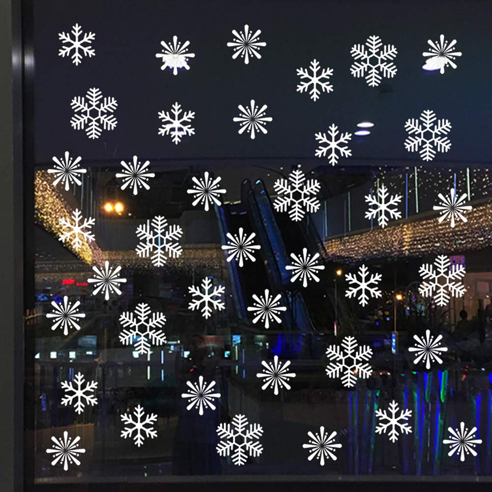 Bluelans Christmas Decorations, Christmas Snowflake Removable Static Cling Sticker Wall Glass Window Home Decor Xmas Gifts Xmas Stocking Fillers