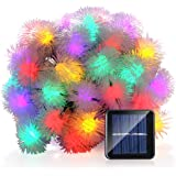 LUCKLED Solar Christmas String Lights, 23ft 50 LED Chuzzle Ball Fairy Decorative Lights for Outdoor, Home, Lawn, Garden, Patio, Party and Holiday Decorations (Multi-Color)