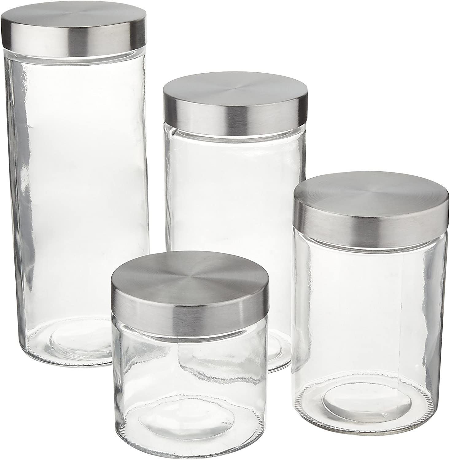 Anchor Hocking 4-Piece Glass Canister Set with Giant Nylon Scoop