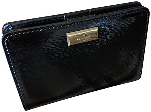 24cbae74153de Image Unavailable. Image not available for. Color  Kate Spade New York  Patent Leather Tellie Bixby Place Medium Wallet Black