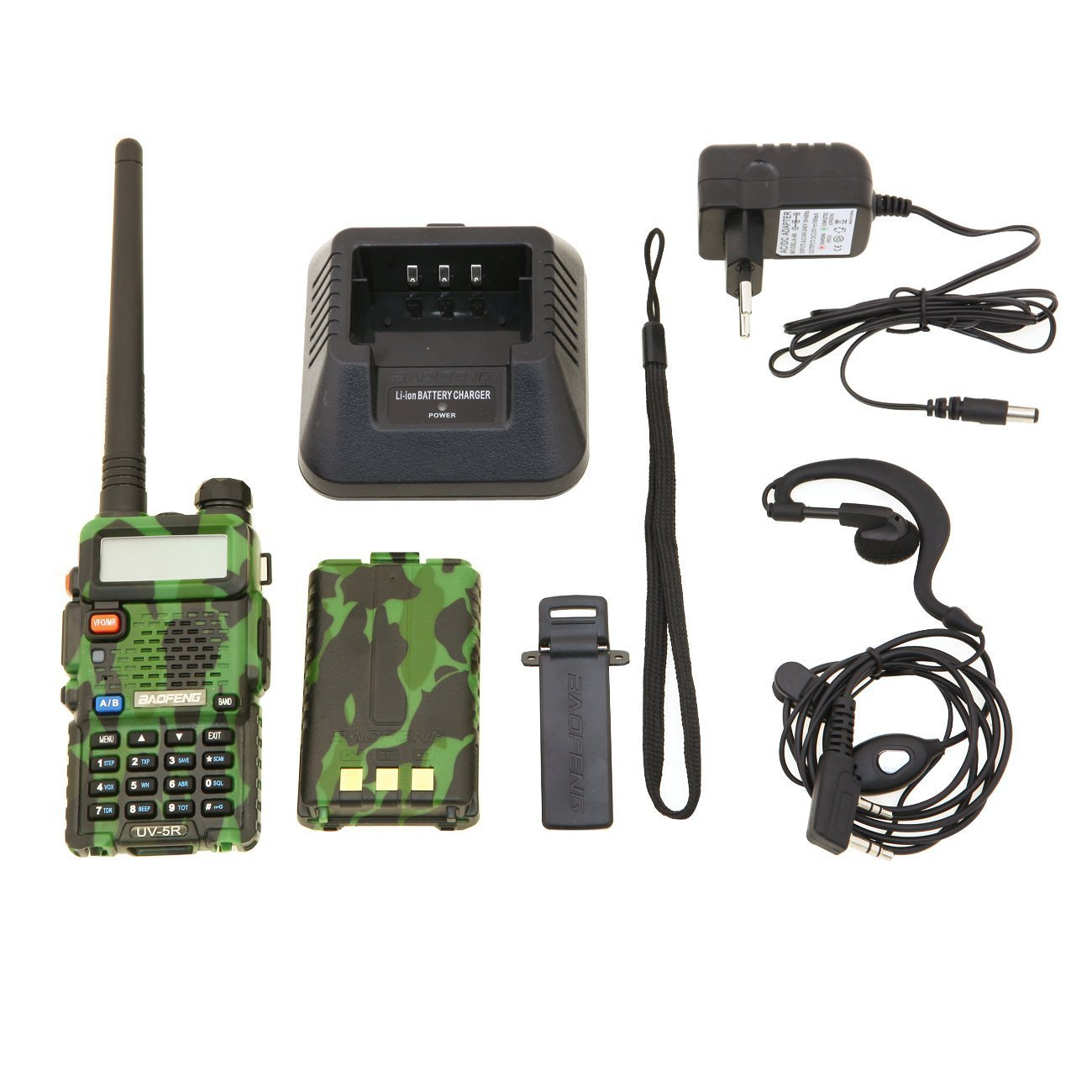 Baofeng UV-5R Talkie-walkie FM radio VHF/UHF avec double bande Noir 28-020-108