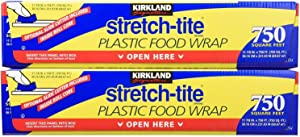 Kirkland Signature Stretch-Tite Plastic Wrap - 11 7/8 x 750 feet, 3 Pack (2 Boxes)