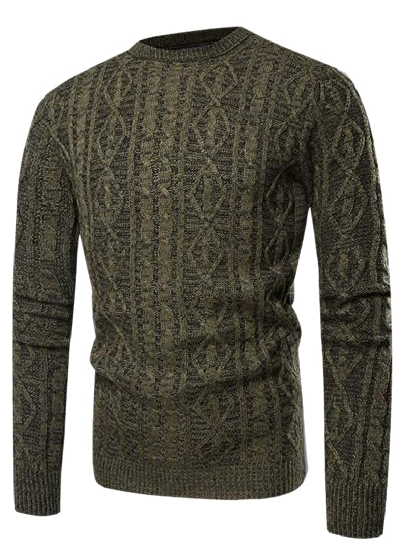 M/&S/&W Mens Slim Solid Color Knitted O-Neck Jumper Sweaters Casual Pullover Blouses