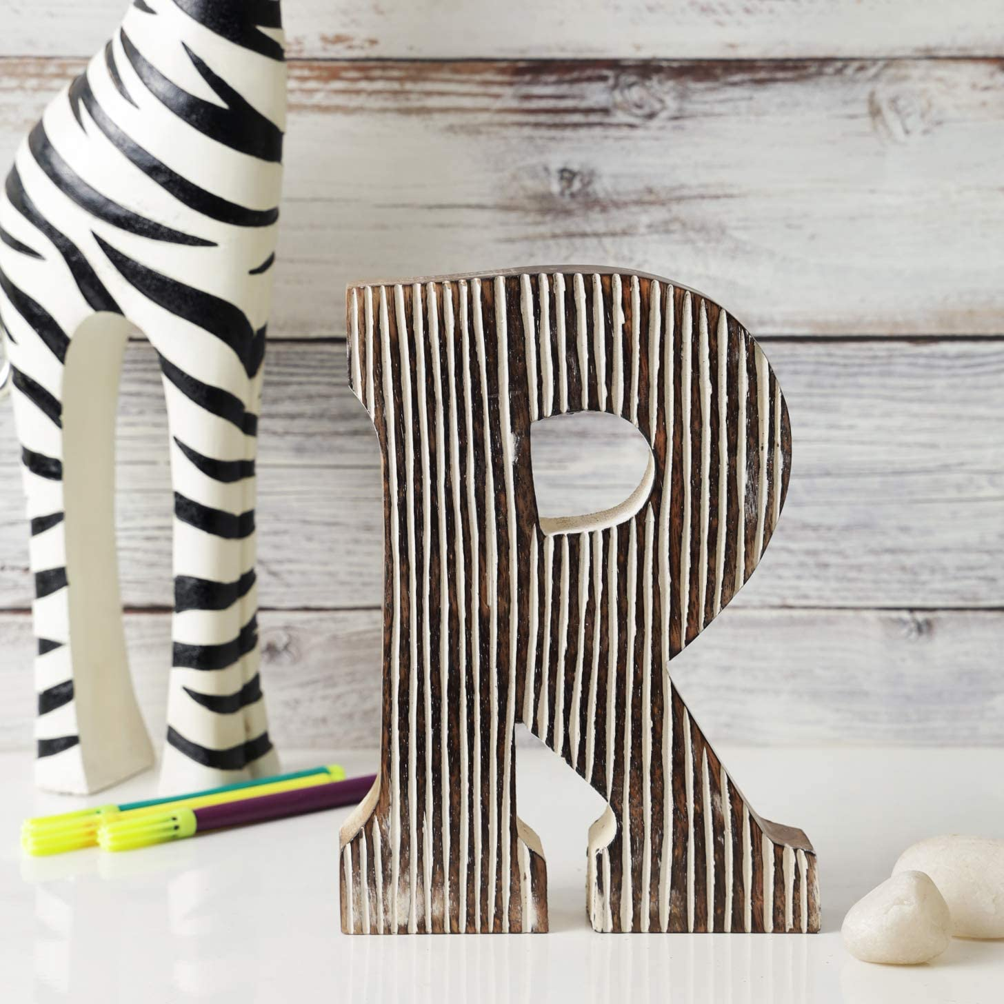 Handmade Wood Letters Alphabet Wall Décor/Free Standing Shelf Tabletop Monogram Wooden Blocks Rustic Letters for Coffee Bar Apartment Bedroom Home Initials Childrens Bedroom Wedding Party Home Decor