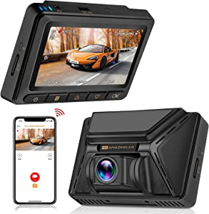 Oasser GPS WiFi Dash Camera Car Dashcam FHD 2880-2160P 3.0inch LCD Dashboard Camera Recorder with Parking Mode Support for Sony IMX335 Video Sensor 128G Max G-Sensor WDR Loop Recording