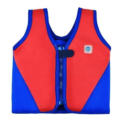 Splash About BJR1 - Chaleco Flotador para niños, Color Rojo/Azul Marino, 1
