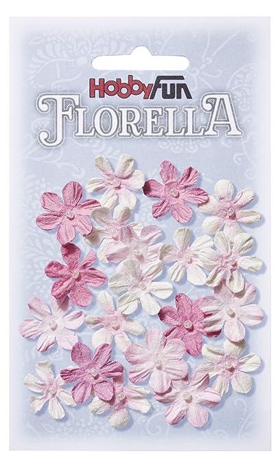 Florella Blüten Aus Maulbeer Papier 2 Cm Rose Btl A 20