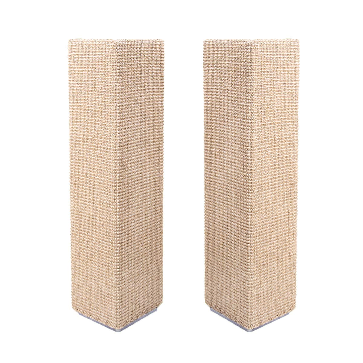 Sofa-Scratcher Squared' Cat Scratching Post & Couch-Corner/Furniture Protector 2-Pack (Beige) by Sofa-Scratcher