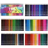 Colored Pencils 160 Count Vibrant Colors Pre-Sharpened Colored Pencils Set for Adult Coloring Books Artist Beginner Hobbyist Drawing Sketching Crafting