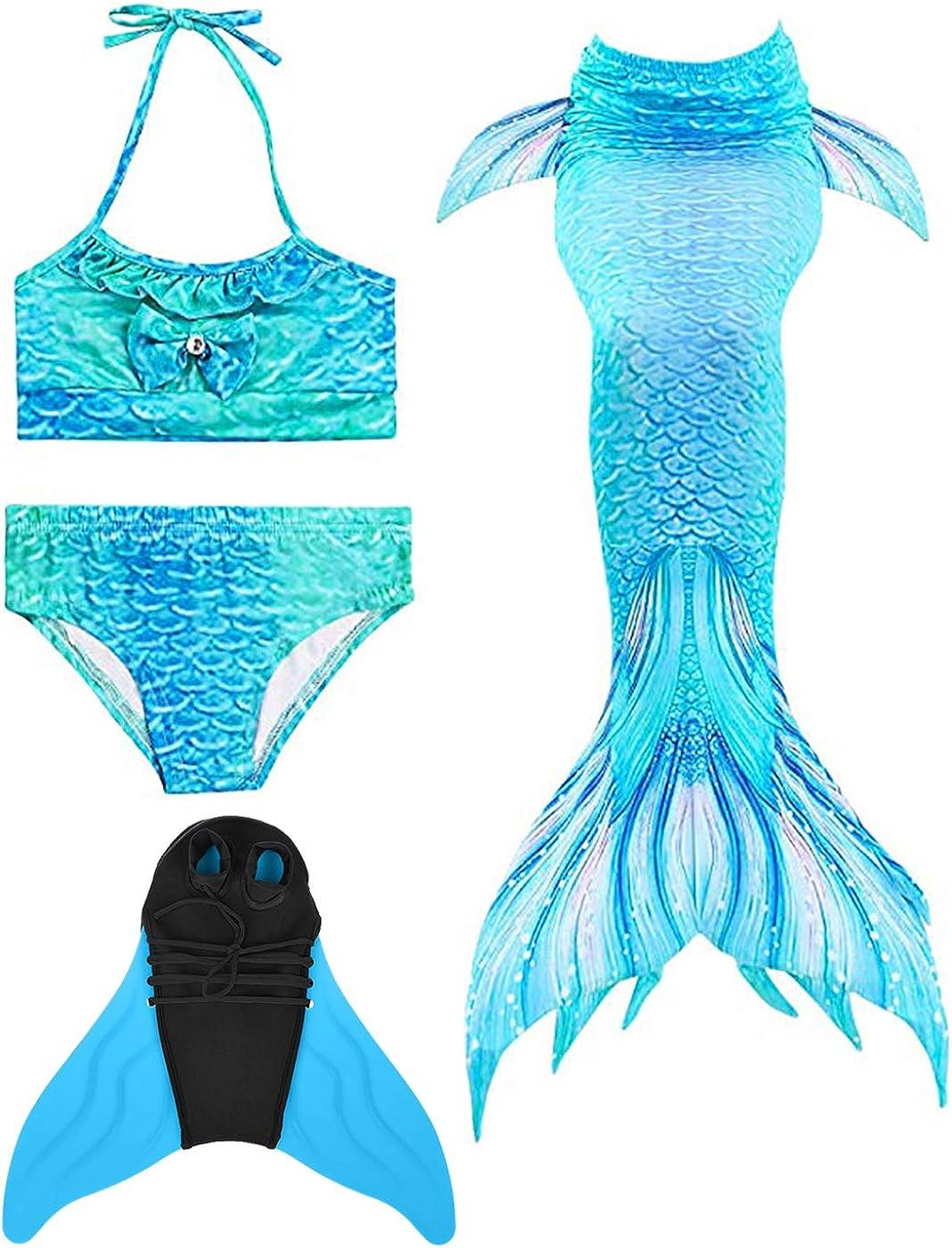 Wishliker Coda da Sirena Cosplay Costumi da Bagno per Nuotare per Ragazze