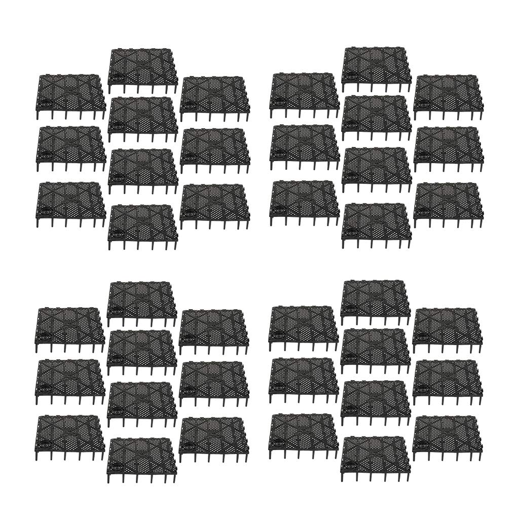 Flameer Grid Isolate Board Filter Tray Divider for Aquarium Fish Tank Bottom, Pack of 40