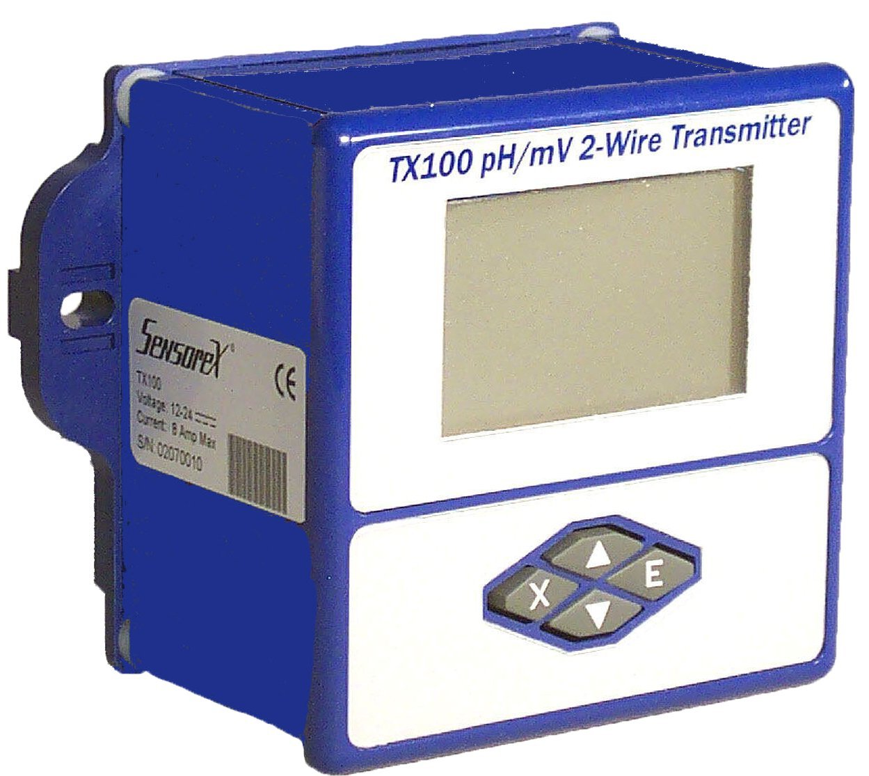 Loop-Powered 4-20mA Transmitter for Use with pH and ORP Electrodes and Sensors, Sensorex TX100 pH/mV by Sensorex