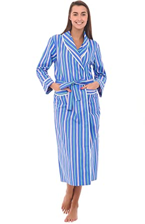 Alexander Del Rossa Womens Striped Cotton Summer Robe 2782dfd21