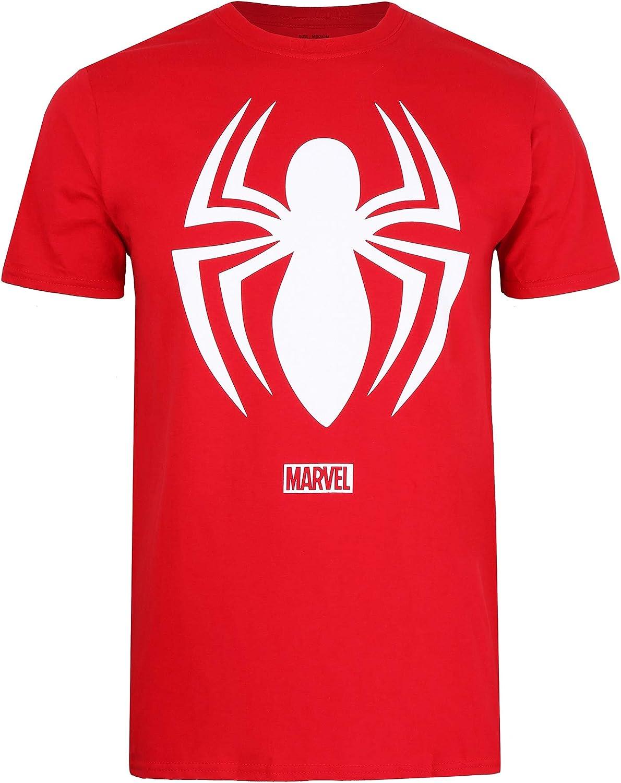 Marvel Mens Spiderman Logo T-Shirt